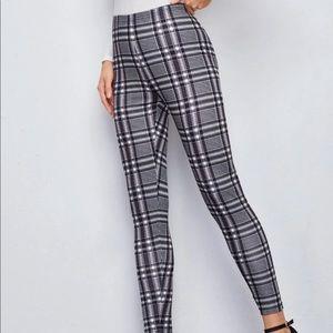 Pants - Plaid Print Leggings